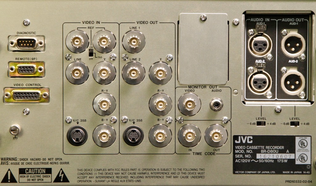 JVC BR-D80U Digital S (D-9) VTR