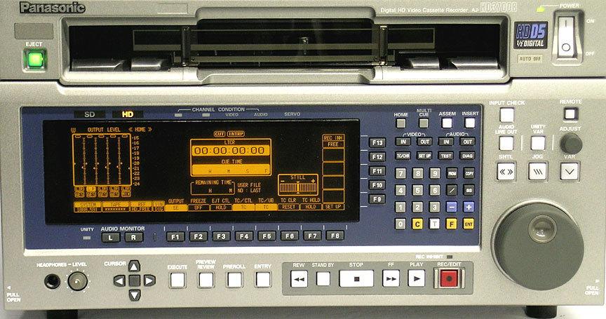 Panasonic AJ-HD3700B D-5 VTR