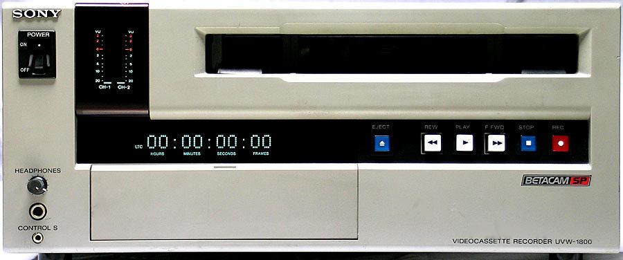 Sony UVW-1800 Betacam SP VTR