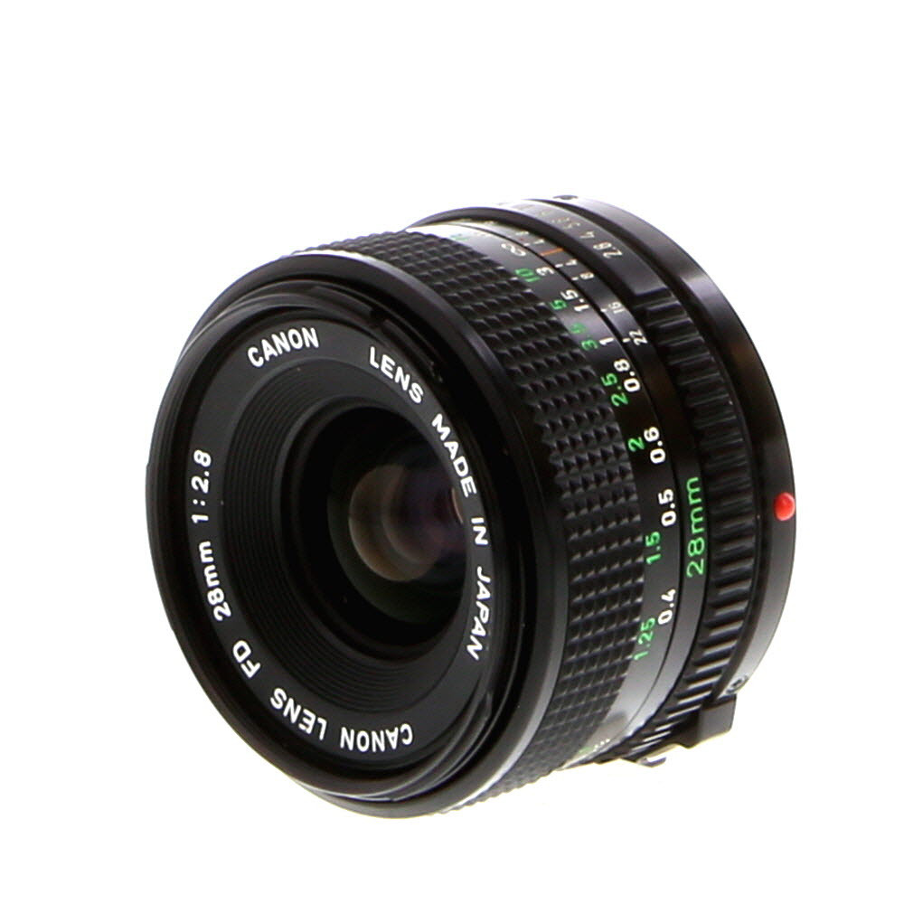 Canon 28mm f/2.8 FD Lens
