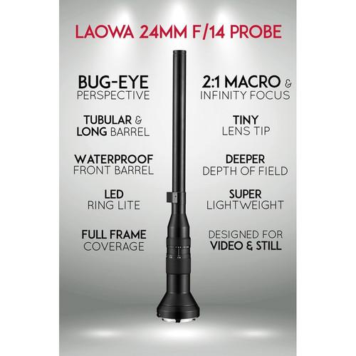 Venus Optics Laowa 24mm f/14 E-Mount Probe Lens