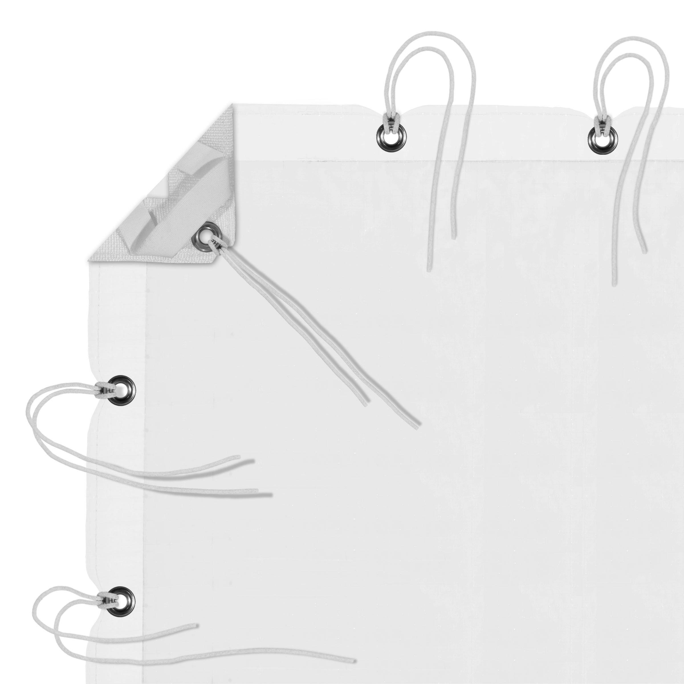 6' x 6' White Artificial Silk